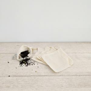 sachet thé réutilisables lavables coton bio