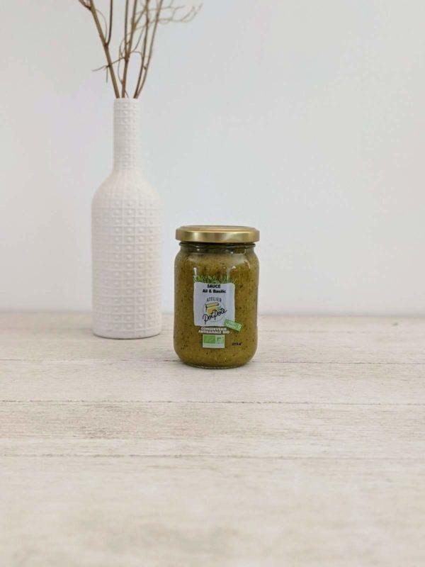 sauce ail basilic